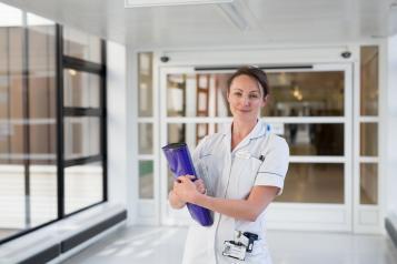 nurse stood in hospital