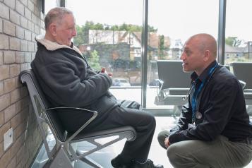 two men in waiting room