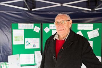 Elderly man at a Healthwatch event