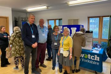 Volunteer Officer and volunteers at local event in Selby