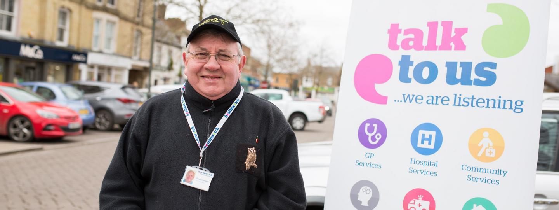 Man at a Healthwatch event